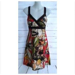 R & K Originals Floral Empire Waist Dress 6 Petite